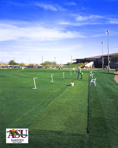 Commercial artificial putting tee line at ASU
