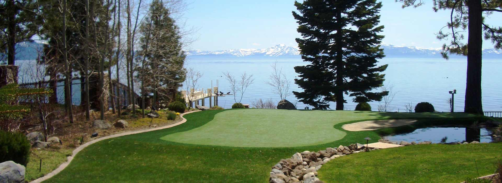 New Mexico lake property putting green