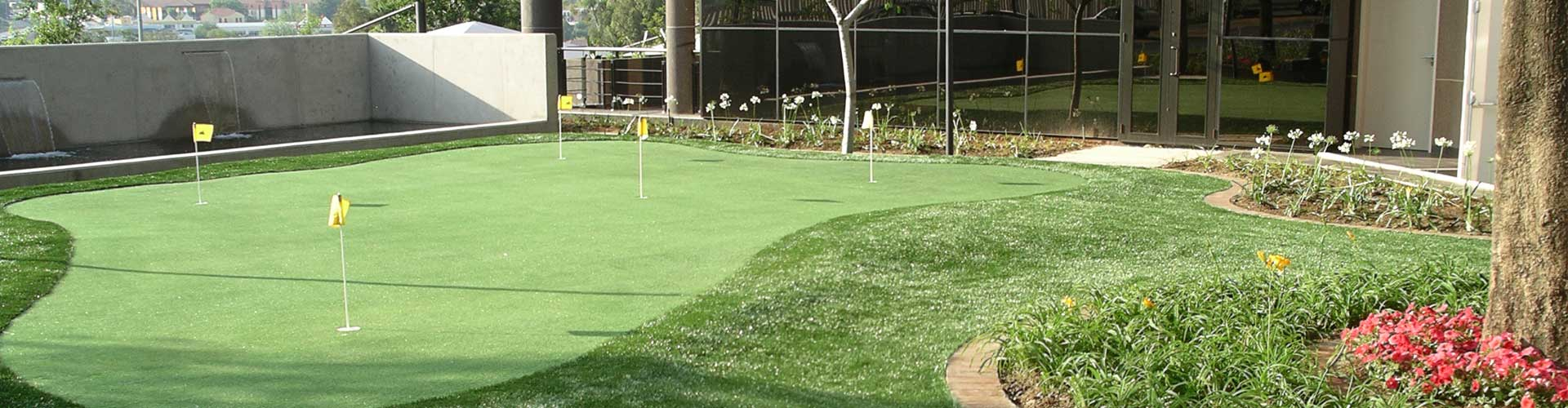 Backyard putting green with tour greens quality