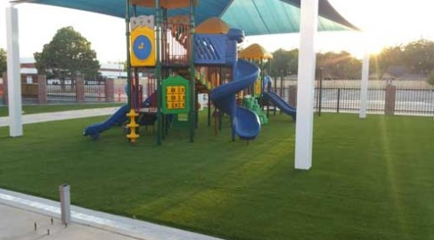A New Mexico Commercial Play Area Looks Amazing after Installing Artificial Playground Turf